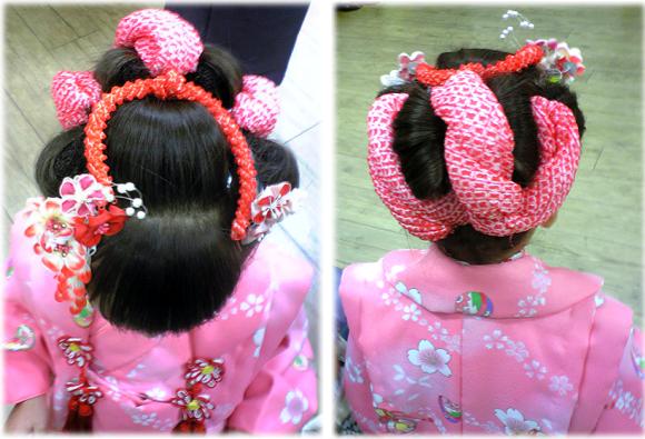3歳日本髪