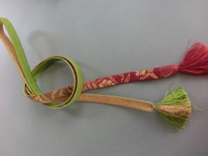 着物コレクション 帯締め 緑紅金