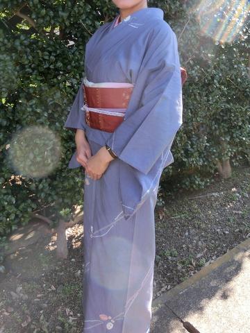 リサイクルの紬の着物