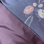 リサイクル紬の着物 裾回し