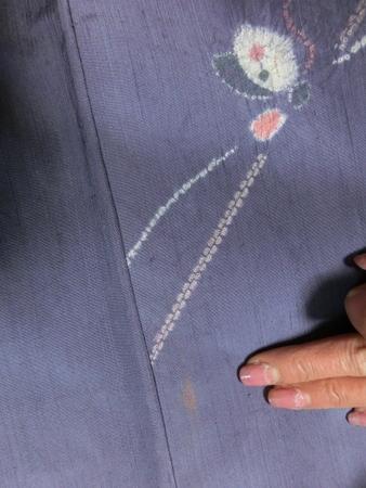 リサイクル紬の着物 シミ