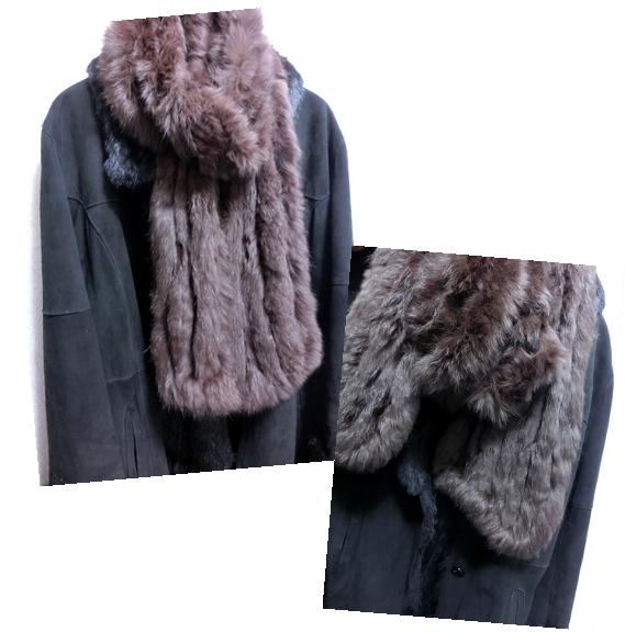 毛皮のコートとラビットストール