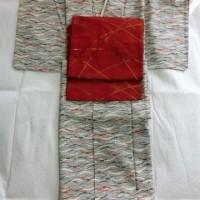 露芝小紋と洗える名古屋帯
