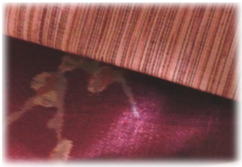 ピンク色の紬