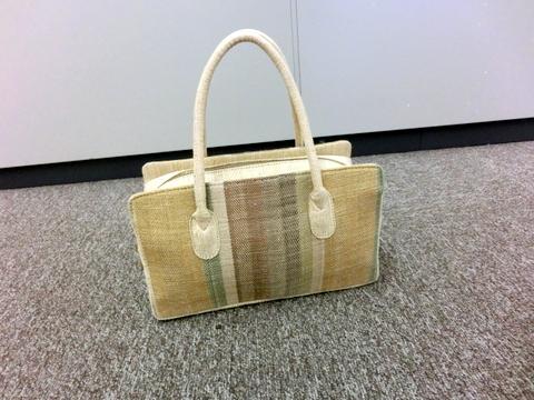 絹十割本紬織 バッグ