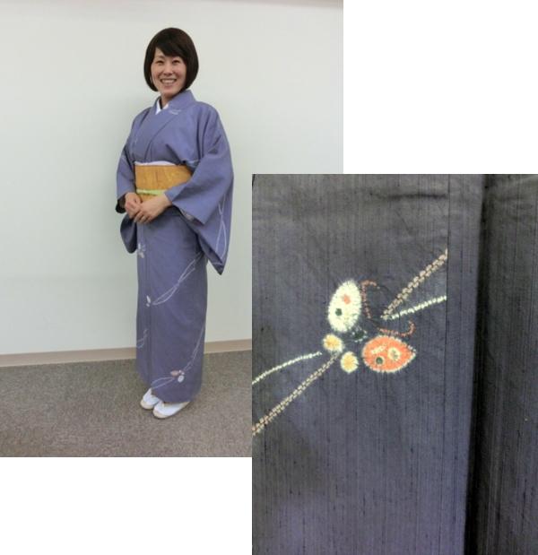 蝶ちょの紬