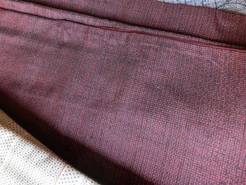 蔵出し着物  赤紬