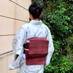 単衣 絣柄 紬の着物