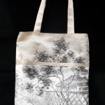 ★【霧夢桜】袋帯で作ったトートバッグ★  織り柄の美しさ織り柄の美しさ