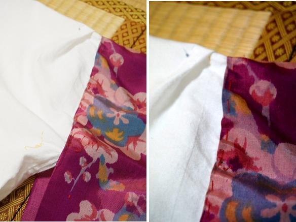 替え袖の針目