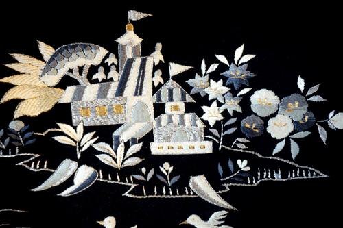 お城の刺繍