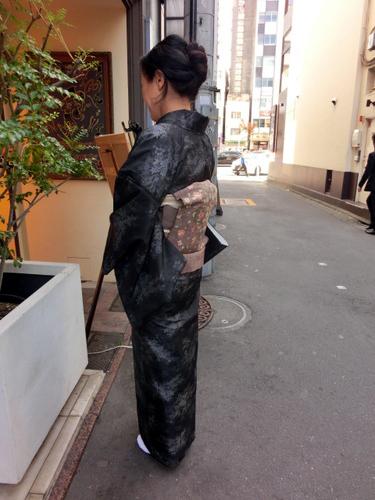 大島紬 八寸帯