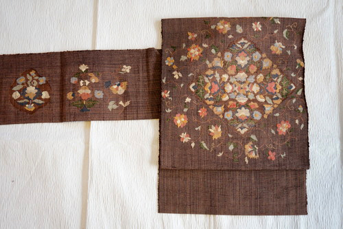 八寸織刺繍帯