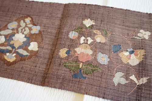 八寸織 刺繍 手