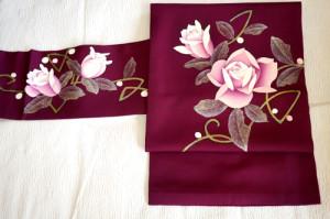 バラの花の帯
