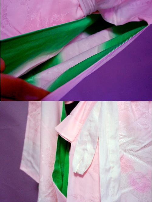 袖裏の緑色
