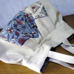 【霧夢桜】帯で作ったグラニーバッグ☆レトロでカワイイ♪