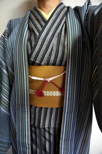 胴抜き仕立ての白山紬 羽織