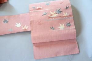 ピンク 八寸帯