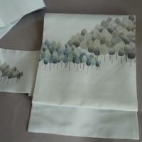 木立柄 染帯 塩瀬