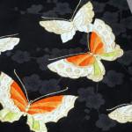 蝶々の刺繍