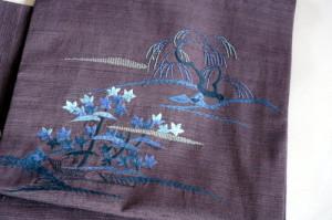 刺繍 九寸名古屋帯
