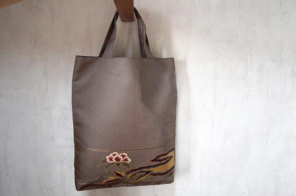 袋帯 花 トート