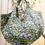 【霧夢桜】北欧テイストのクローバー・小花柄バッグ♪
