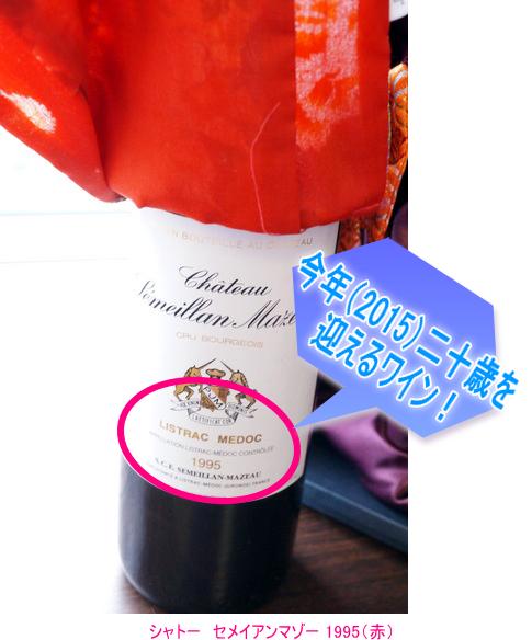 成人式のワイン