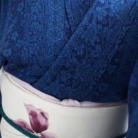 藍色の着物