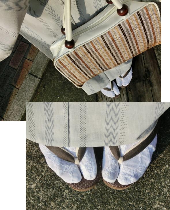 化繊の着物
