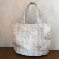 絹絣バケツ型バッグ
