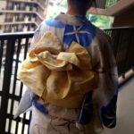 【浴衣 通販】 「きもの館 創美苑」浴衣セット~「夏しぐれ・蛍hotaru」朝顔柄の綿浴衣
