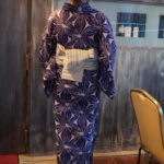 【浴衣 通販】きもの館 創美苑「ノスタルジックギャラリー懐 」綿麻浴衣を着てみました!