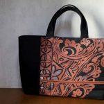 漆の帯のリメイクバッグ