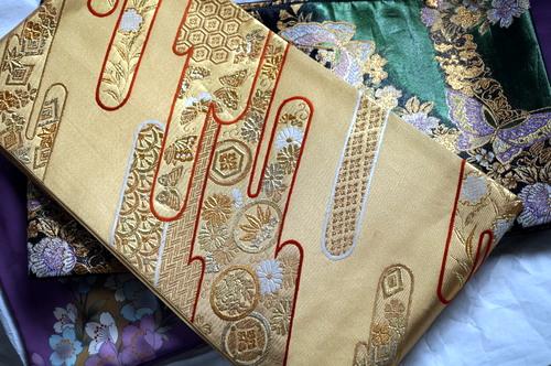 金色の袋帯