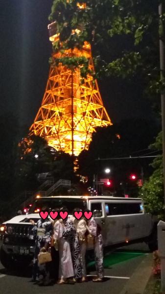浴衣と東京タワー