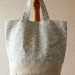 フラワー綿麻バッグ