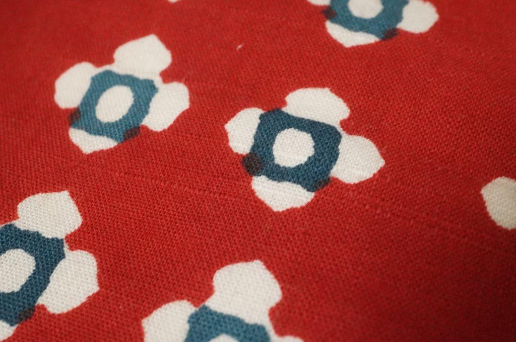 木綿 小紋染め半幅帯3