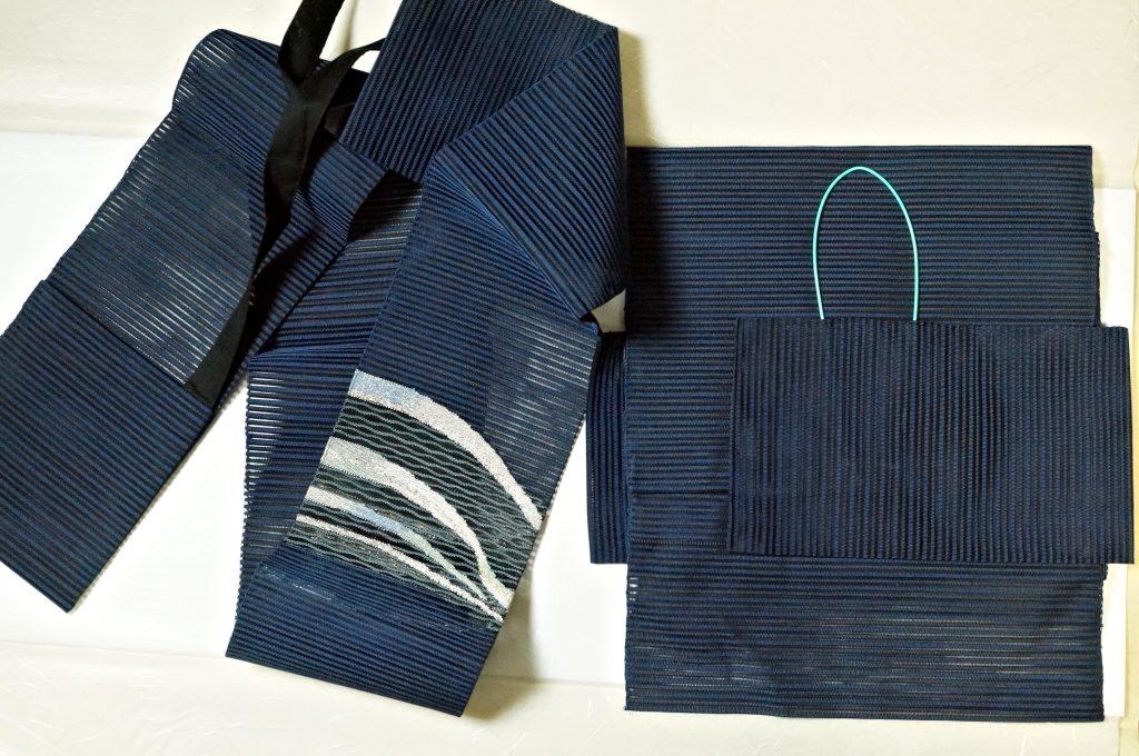 絽八寸名古屋作り帯