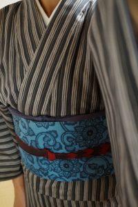 白山紬ー型染洒落袋