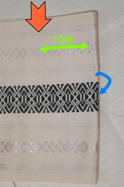 表太鼓の織り出し線