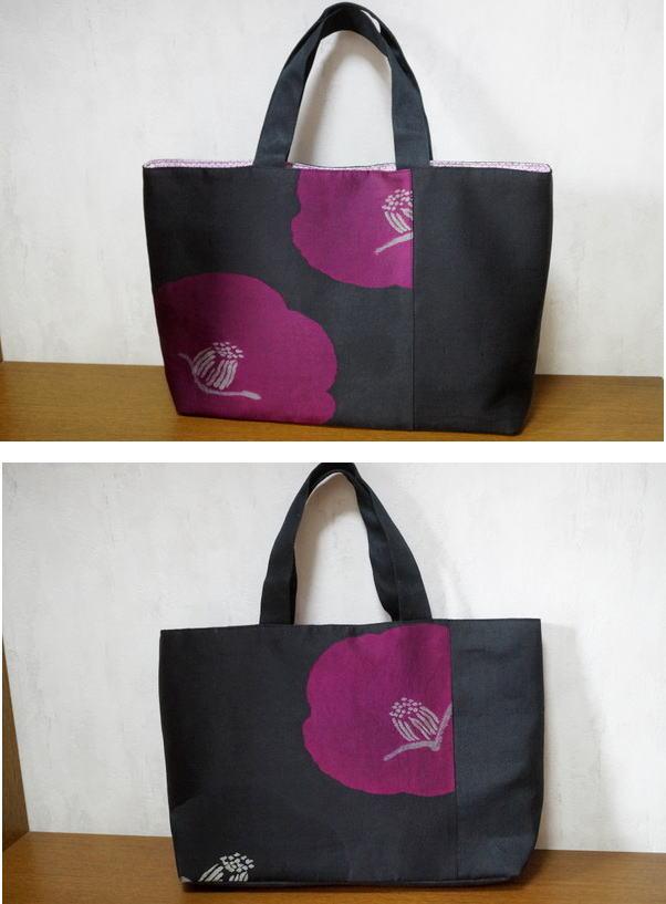 アンティーク椿のバッグ