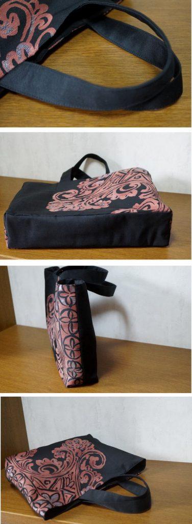 漆帯のバッグ