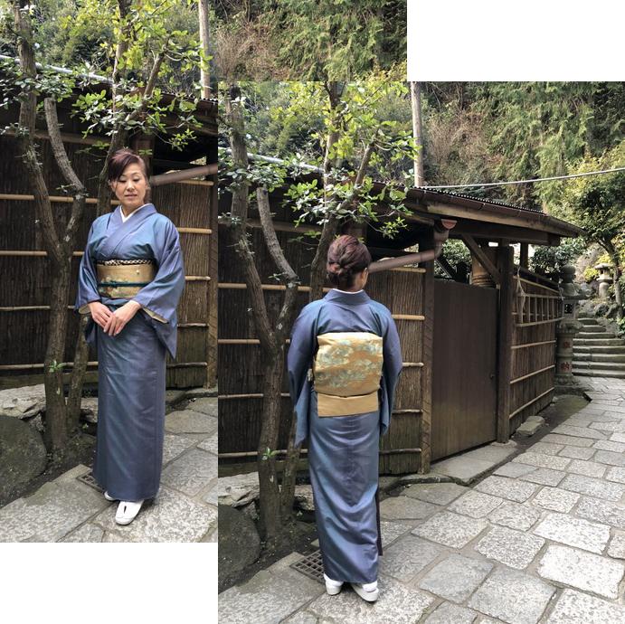 初詣の着物と帯
