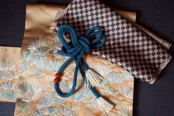 松の帯と市松の帯揚げ