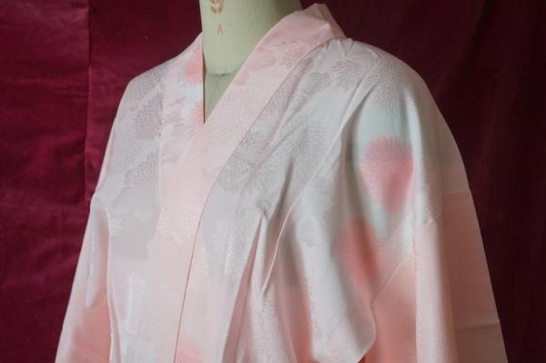 化繊長襦袢ピンク