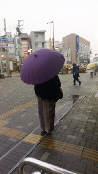 和傘雨の日