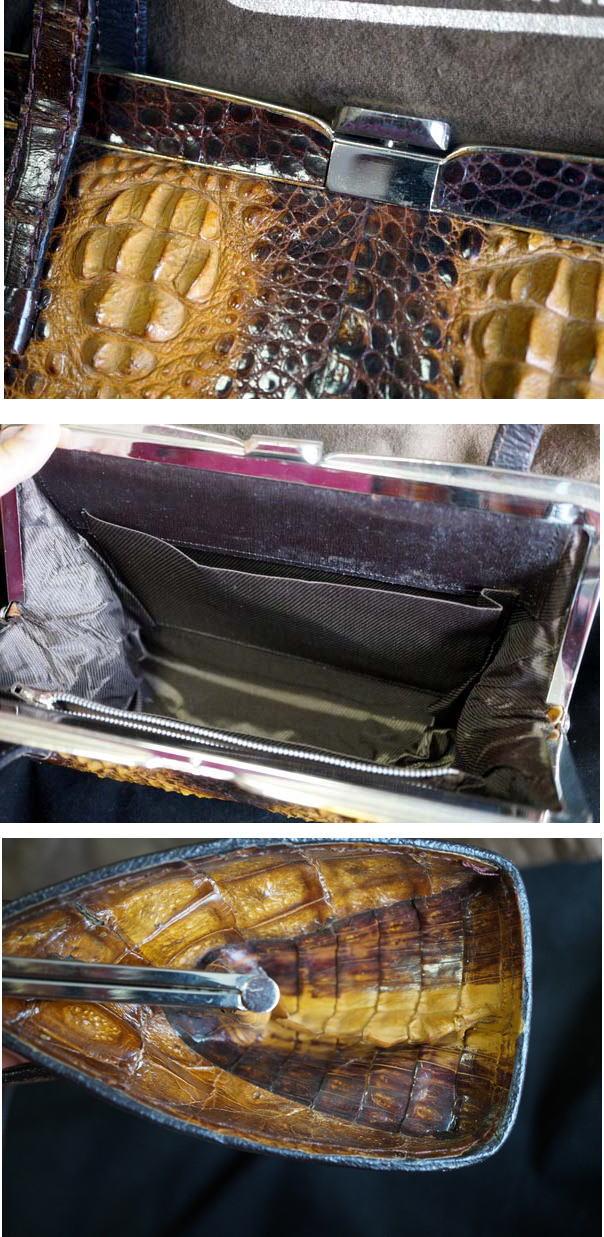 クロコのハンドバッグの写真