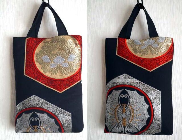 袋帯のバッグ
